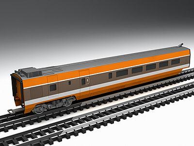 1st generation tgv high-speed 3d model