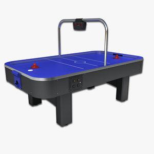 arcade air hockey table 3d model