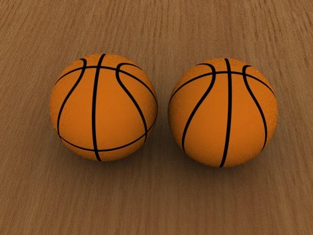 3d model of basketball ball