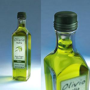 3ds max bottle olive oil