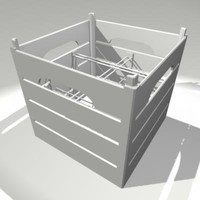 antique milk crate 3d ma