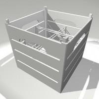 antique milk crate 3d ma