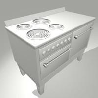 1930 s antique stove 3d ma