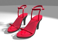 3d model strappy sandals