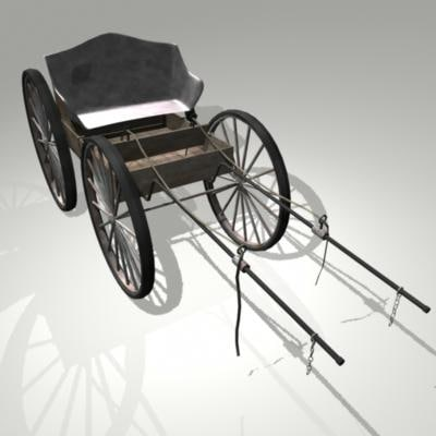 3d horse drawn carriage