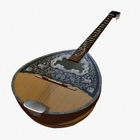 strings banjo 3d model
