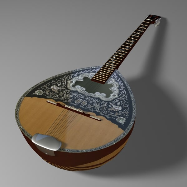 strings banjo 3d model