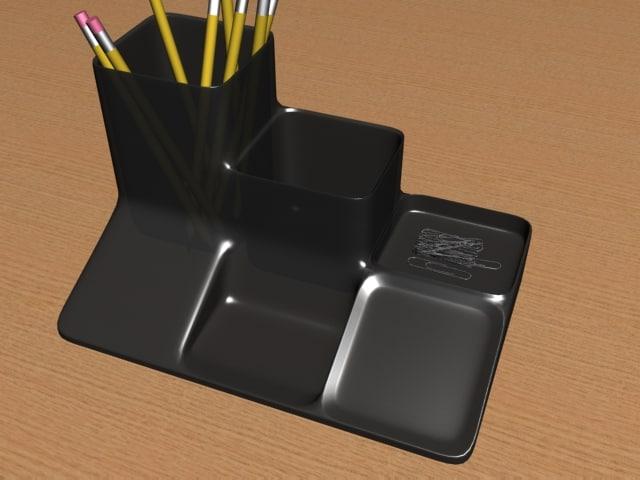 desktop pencil 3d model