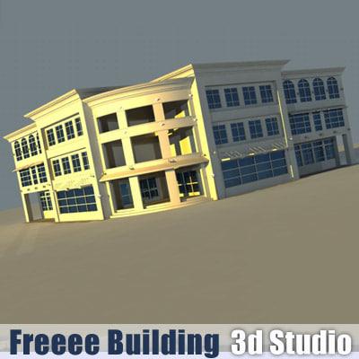 free building office 3d model