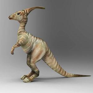 3d obj parasaurolophus lo