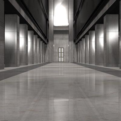 matrix lobby 3d max