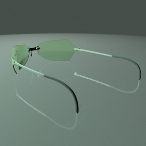 3d model glasses sunglasses sun