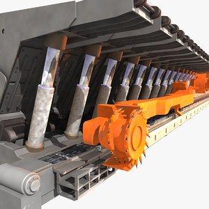 longwall miners 3d model