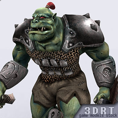 3ds fantasy orc monster