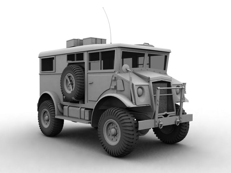 wwii military transport truck 3d max