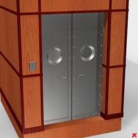 3d door elevator model