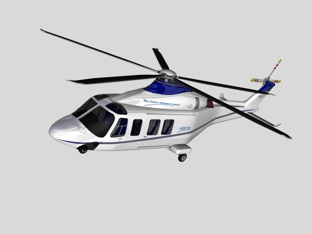 aw-139 helicopter agusta westland 3d model