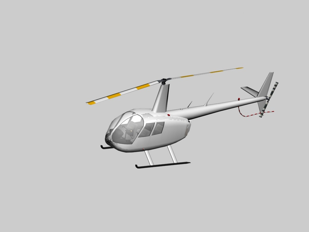 robinson helicopter r-44 raven 3d model