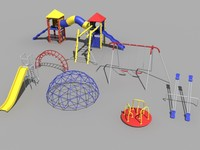 3d model small playground set