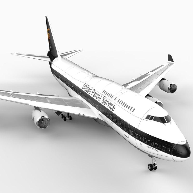 max 747-400 airliner ups 747 jumbo
