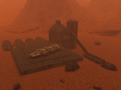 3ds max space mining outpost
