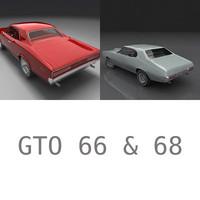 pontiac gto 1966 1968 3d model
