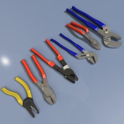 set pliers 3d max