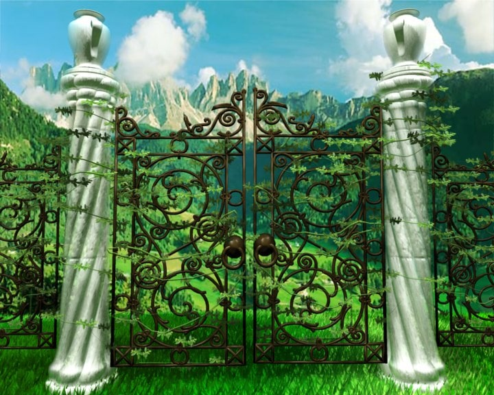 3d model of wrought iron gates