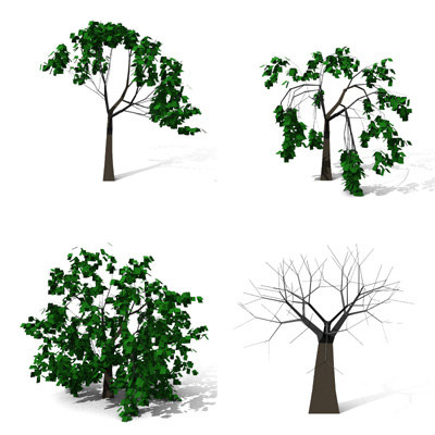 tree architectural 3d 3ds
