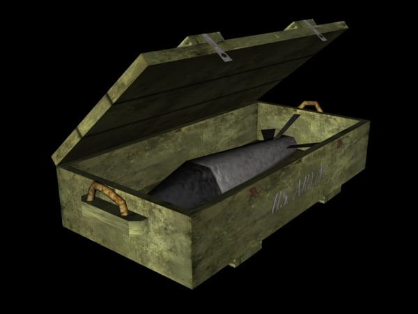 wwii crate 3d 3ds