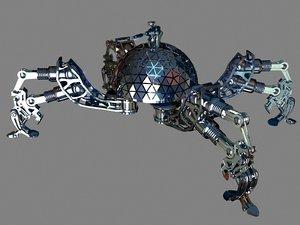 3d quadripod robot model