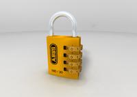 pad lock padlock 3d model