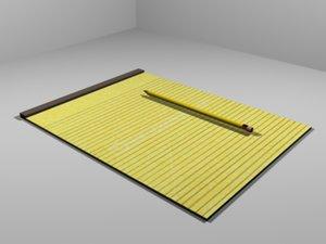 3d model notepad