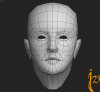 LOWPOLY WOMAN HEAD