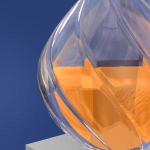 3d glass vase