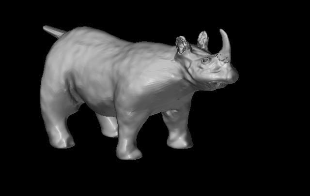high-poly rhino obj