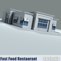 drive-thru fast food restaurant 3ds