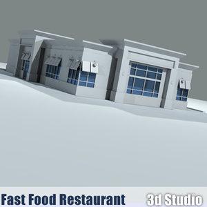 drive-thru fast food restaurant 3ds