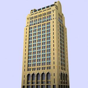 1920s art deco skyscraper 3d model