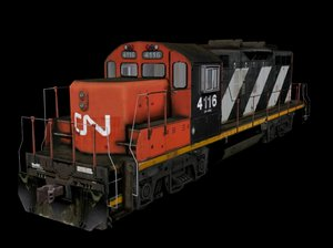 3d model canadian locomotive