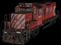 3ds max canadian locomotive