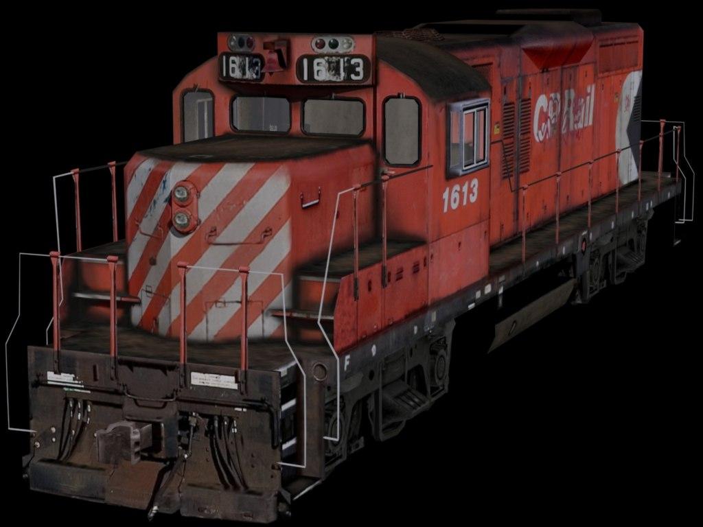 3ds max canadian locomotive