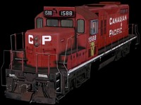 3d model canadian locomotive