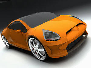 maya mitsubishi eclipse concept-e car concept