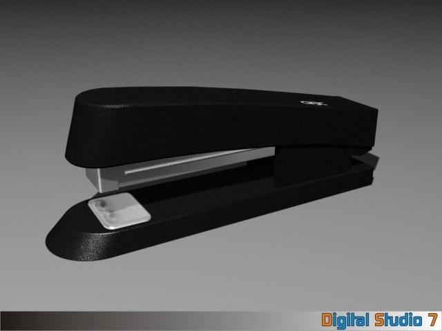 3d model stapler workplace