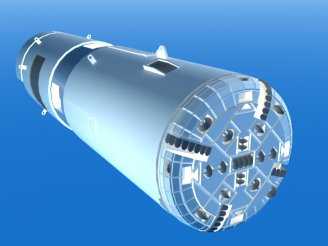 tunnel boring machines 3d model