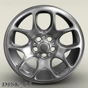 3d disk 07 model