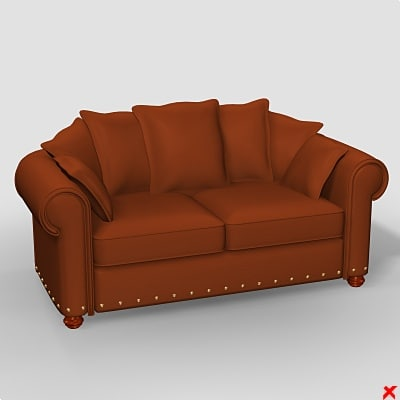 3d sofa loveseat model