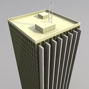 skyscrapers buildings 3d model