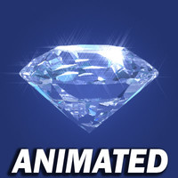 diamond pre-rendered video rotating 3d model